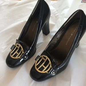 Tommy Hilfiger Patent Leather Shoes Dark Chicolate